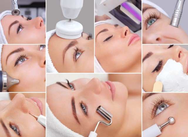 Photo Collage of various Dermabrasion Products for the Face
