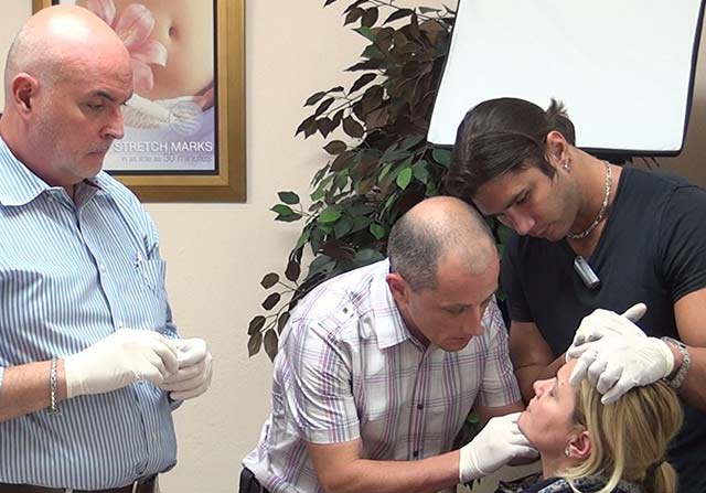 Board Certified Instructor Supervising HA Filler Injection by attending Phyisician